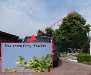 50 maal zoom sony hx400v